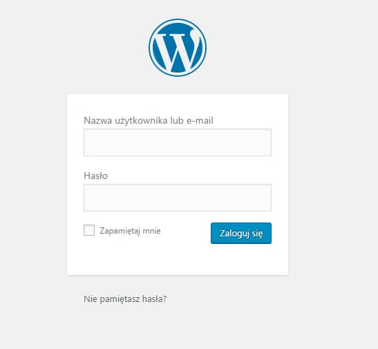 logowanie-wordpress